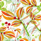 Abstract Plants In Summer Seamless Vector Pattern Design