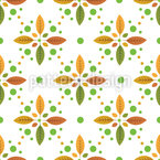 Leaf Crosses Seamless Vector Pattern Design