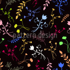 Colorful Floral Silhouettes Pattern Design