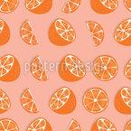 Süße Orangen Nahtloses Vektormuster