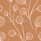 Buds On Branches Vector Ornament