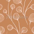 枝のつぼみ シームレスなベクトルパターン設計