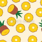 Sweet Floating Pineapples Seamless Pattern