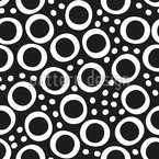 Rings With Dots Seamless Vector Pattern Design