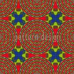 Kaleidoscope Clutter Seamless Vector Pattern Design