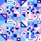 Geometry Abstraction Seamless Vector Pattern Design