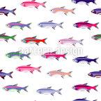 Süße Babyfische Nahtloses Vektormuster