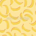 Banana Festa No Verão Design de padrão vetorial sem costura