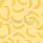 Bananenparty Im Sommer Nahtloses Vektormuster