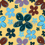 Dick Daisy Seamless Vector Pattern Design