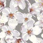 Cherry Blossom Time Seamless Vector Pattern Design
