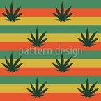 Rastafari Kunst Nahtloses Vektor Muster