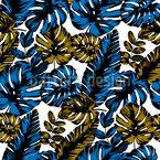 Monstera Blatt Kunst Vektor Muster