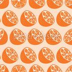 Orangen-Hälften Nahtloses Vektormuster