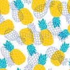 Paradis de l'ananas Motif Vectoriel Sans Couture
