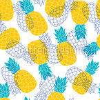 Pineapple Paradise Seamless Vector Pattern