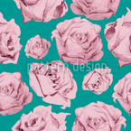 Art Rose Emerald Vector Ornament