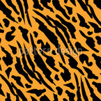Abstrakte Tigerhaut Nahtloses Vektormuster