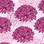 Fleur de chrysanthème Motif Vectoriel Sans Couture