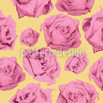 Art Rose Gelb Seamless Pattern