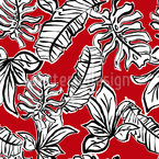 Power Leaves Seamless Vector Pattern Design