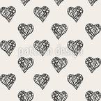 Gitter In Herzen Nahtloses Vektormuster