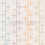 Crosses On Lines Seamless Vector Pattern Design