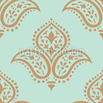 Minimalistic Damask Seamless Vector Pattern Design