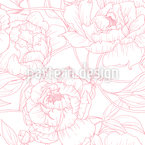 Peony Lines Seamless Vector Pattern Design