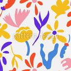 Gekritzelte Blumen Und Blätter Vektor Ornament
