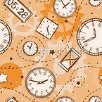 Zeit Vergeht Nahtloses Vektormuster