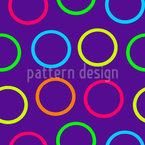 Farbenfrohe Kreise Nahtloses Vektormuster