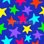 Colourful Starfishes Seamless Vector Pattern Design