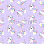 Unicorns Seamless Vector Pattern Design
