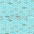 Blue Brick Wall Vector Design