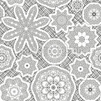 Doily Presentation Seamless Vector Pattern Design