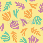 Sea Plants Seamless Vector Pattern
