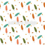 Simple Banana Leaves Seamless Vector Pattern Design
