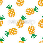 Simple Pineapples Seamless Vector Pattern Design