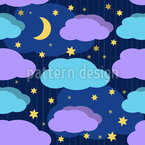 Nighty-Night Seamless Vector Pattern Design