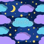 Noite-Noite Design de padrão vetorial sem costura