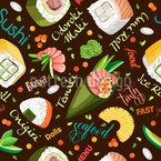 寿司とキャビア シームレスなベクトルパターン設計