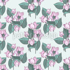 Cyclamen Seamless Vector Pattern Design