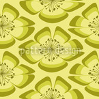 Flores Grün Nahtloses Vektormuster
