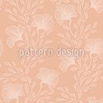 Contorno Floral Design de padrão vetorial sem costura