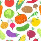 Gemüse Variation Nahtloses Vektormuster