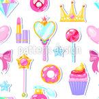 Für Kleine Prinzessinnen Nahtloses Vektormuster