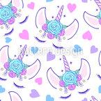 Princesse Licorne Motif Vectoriel Sans Couture