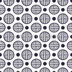 Dots And Embellished Circles Repeating Pattern