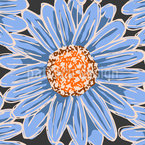 Winter Daisy Seamless Vector Pattern Design